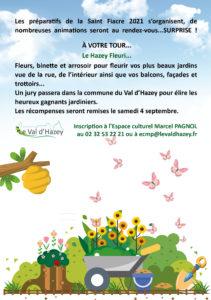 """CONCOURS """"LE HAZEY FLEURI"""" @ Réservé aux habitants de la commune"""